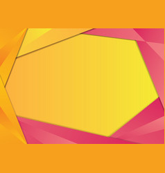 Yellow and pink triangle frame border vector