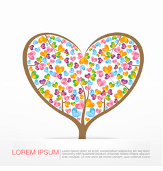 002 heart tree element for valentine day and vector