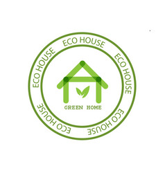 eco house real estate icon vector image