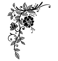 Rose leaves flower vector