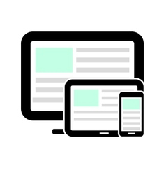 Display tablet computer and mobile phone vector