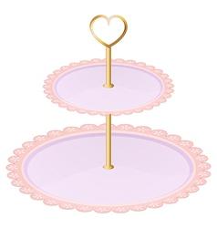 An empty cupcake tray vector image