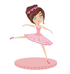 Cute ballerina girl vector