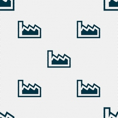 Chart icon sign seamless pattern with geometric vector