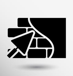 Brick wall trowel icon button logo symbol concept vector image