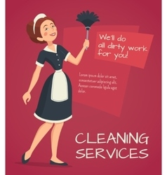 Cleaning advertisement vector