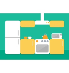 Flat design of kitchen vector