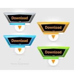 Downloading icon set vector