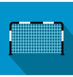 Soccer goal flat icon vector