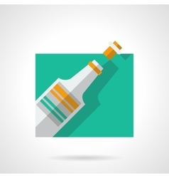 Champagne flat color icon vector