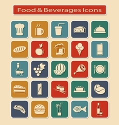 Set of Food Beverages Icons vector image