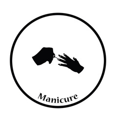 Manicure icon vector