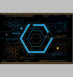 abstract hexagon technology design vector image