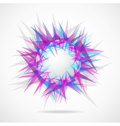 Abstraction from triangles vector image vector image