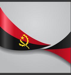 angolan wavy flag vector image vector image