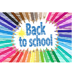 back to school the palette of pencils vector image vector image