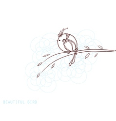 beautiful decorative bird vector image vector image