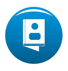 Book icon blue vector
