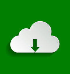 Cloud technology sign paper whitish icon vector