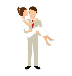 couple wedding isolated icon design vector image