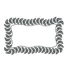 decorative blank label vector image vector image