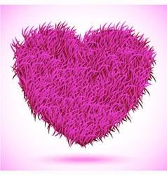Heart pink carpet vector