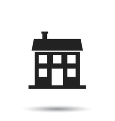 House icon in flat style on white background vector