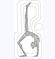 man posing vector image vector image