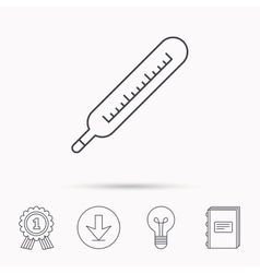 Medical thermometer icon temperature sign vector