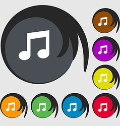 Music note sign icon musical symbol symbols on vector