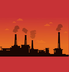 Pollution industry bad environment background vector