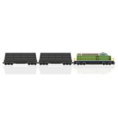 Railway train 29 vector