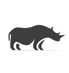 Rhino logo or icon vector