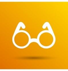 Round glasses icon symbol vision specs vector