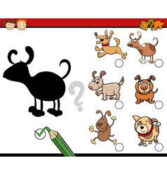 shadows activity with dogs vector image vector image