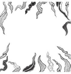 sketched vintage floral border vector image vector image