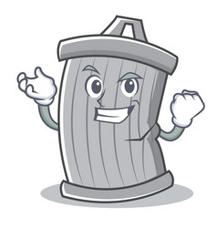 successful trash character cartoon style vector image