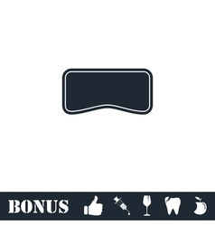Swim mask icon flat vector image