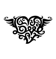 Tattoo with love heart symbol vector