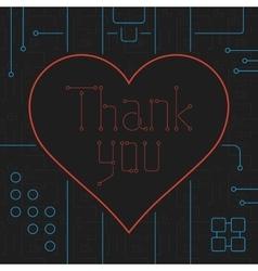 Thank you techno line art bakcground vector