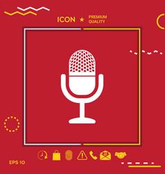 vintage microphone icon vector image vector image