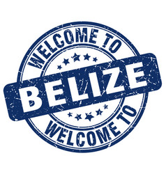 Welcome to belize blue round vintage stamp vector