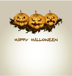 Halloween background with spooky pumpkins vector