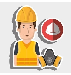 Worker helmet mask gas vector