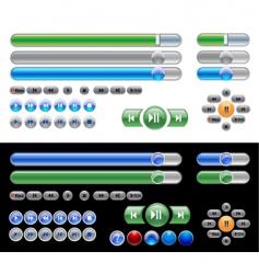 widget set vector image