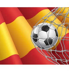 Soccer goal and spain flag vector