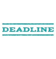 Deadline watermark stamp vector