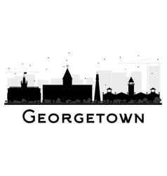 Georgetown city skyline black and white silhouette vector