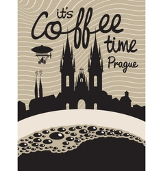 Coffee prague vector