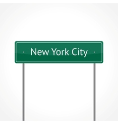Green nyc traffic sign vector